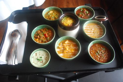 Assortment of curries