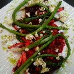 Roasted Beet and Red Chowli Salad with Upbeat Vinaigrette