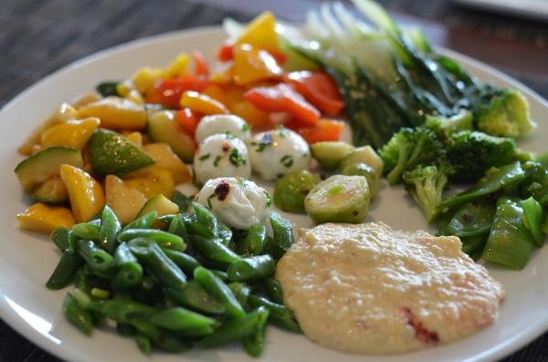 A Vegetable Rich Lunch at Seasonal Tastes