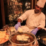 When we entered Nawab Saheb, where the festival was hosted, we were greeted with the sight of a chef preparing mini ghevars
