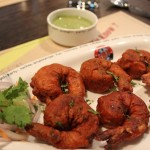 The spicy batter of Bengal gram flour and yoghurt complemented the Jhinga Koliwada perfectly