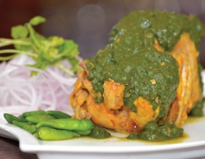 The hallmark of the dishes like this 'Harey Dhania Ka Murg' is its rusticity in preparation and presentation, involving the use of fresh ingredients.