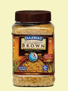 The flavour of Daawat brown rice was nutty with a slightly fibrous appearance.