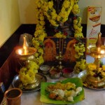 Traditional Naivedyam offered to deities