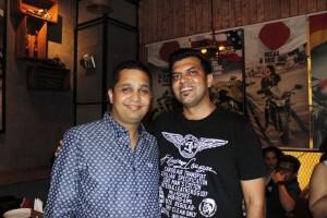 Sanjay Yadav with Manoj Rathi