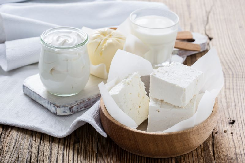 The keyword here is, 'Low Fat Dairy'. Dairy products do have protein but they are also rich in saturated fat. Selecting low fat options for consumption will ensure a good dose of protein, calcium, Vitamin B12 and Vitamin A.