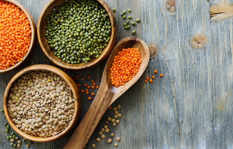Lentils are an everyday affair in most households. The trick to get the maximum benefit of protein is to have absolute thick versions and not the soupy, rasam kind. A meal of this during the day with some vegetables and Low GI carbs is as healthy as it gets!