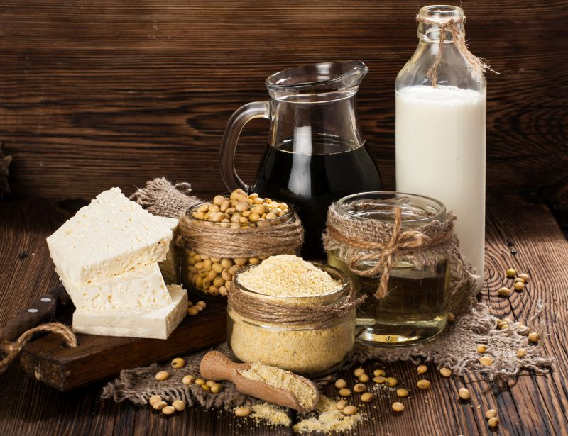 1.Soy Products like soybean, tofu, soya milk provide 26-48 grams of protein per 100 grams. Consumption every few days will ensure an adequate intake of protein. There are discussions regarding long term effects of soy products however, as long as consumed in moderate amounts they make for a great protein packed meal.