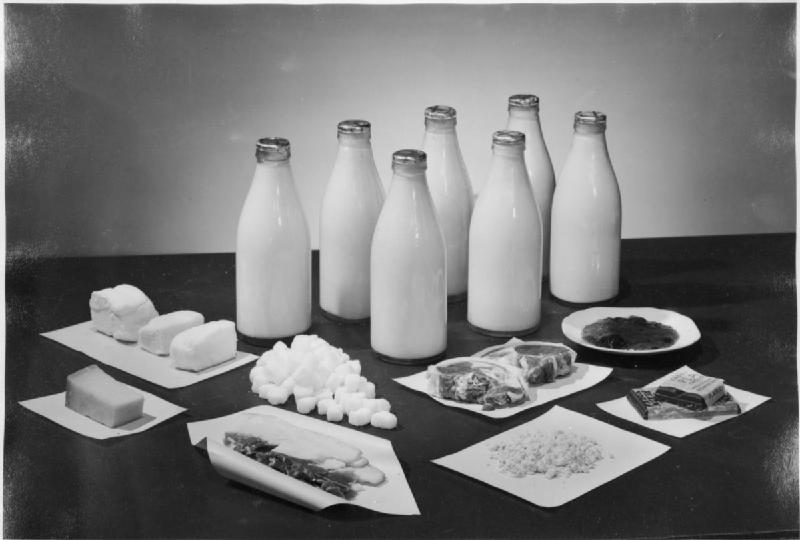Shortage of supplies ensured vital foodstuffs like milk, eggs, meat and sugar, among others, were strictly rationed.