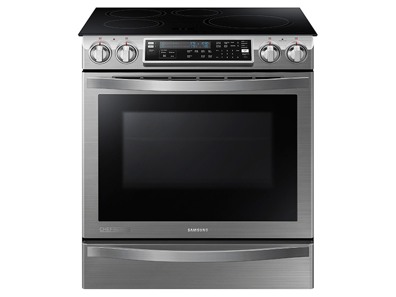 Samsung 5.8 cu. ft. Slide-In Induction Chef Collection Range with Flex Duo™ Oven