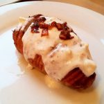 Hasselback Potatoes with Yogurt Dip
