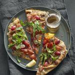 Prosciutto, Red Grape and Pecorino Flatbread
