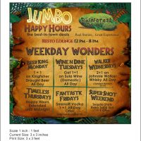 Enjoy Jumbo Happy Hours at Rainforest Restobar