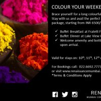 HOLI WEEKEND: Enjoy the Weekend of Colours at Renaissance Mumbai Convention Centre Hotel